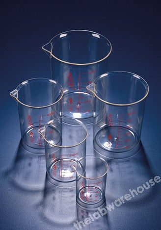 BEAKER AZLON PMP LOW FORM PRINTED GRAD'S WITH SPOUT 2000ML
