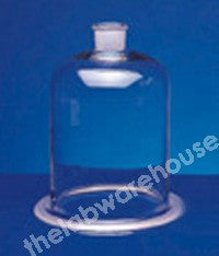 BELL JAR GLASS 29/32 SOCKET TOP 300X200MM