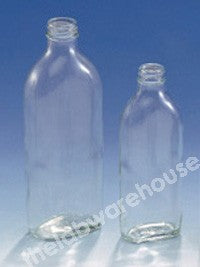 BOTTLES CLEAR GLASS FLAT NO CAP 100ML PK.90