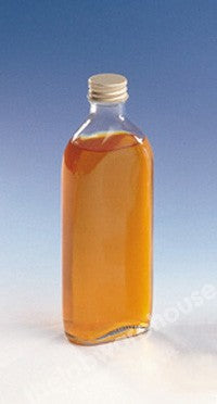 BOTTLES CL.GLASS FLAT ALU. CAP/RUBBER WAD 300ML PK.36