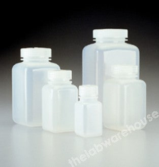 BOTTLE NALGENE PPCO SQUARE W/MOUTH WITH PP SCREWCAP 1000ML