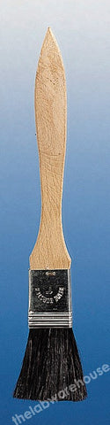 BRUSH FLAT FORM HAIR BRISTLES 25MM WIDE ON WOOD HANDLE