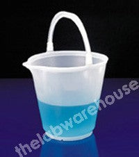 BUCKET NATURAL PP WITH SPOUT AND HANDLE 15L CAP. X 1L GRADS