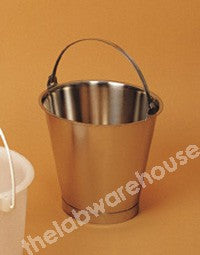 BUCKET ST./STEEL WITH HANDLE 10L X 1L GRADUATIONS