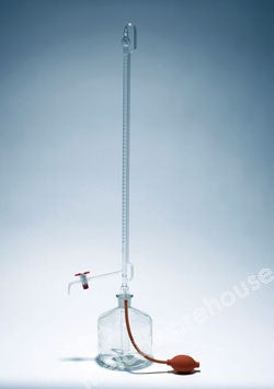 AUTOZERO BURETTE PYREX CLASS AS PTFE S/COCK 25 X 0.05ML