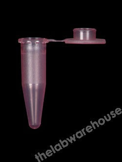 MICROCENTRIFUGE TUBES 1.5ML PP W/PLUG CAP RED PK.1000