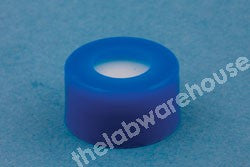SCREW CLOSURES BLUE PE WITH PTFE/SIL RUBBER SEAL PK1000