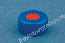 CRIMP CLOSURES BLUE ALU. WITH PTFE/RED RUBBER SEAL PK1000