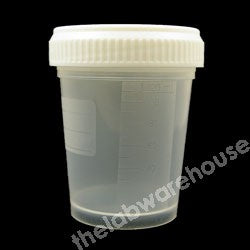 SPECIMEN CUPS PP WITH WHITE PE SCREWCAP NON-STERILE PK.450