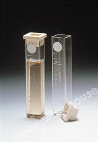 Moulded glass cells DB424/S square 10ml 13.5mm path/cap pk.10