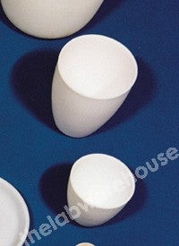 PORCELAIN CRUCIBLE LOW FORM WITHOUT LID 70X44MM 85ML