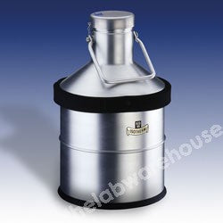 DEWAR FLASK ALU. WITH BORO. GLASS INNER 10L 330MM EXT. DIA.