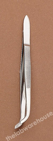 FORCEPS ST./STEEL SPR. CRV FLUTES BROAD ENDS GUIDE PIN 120MM