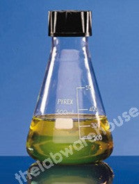 ERLENMEYER FLASK PYREX GLASS S/CAP SIZE 30 GRADUATED 100ML