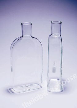 ROUX CULTURE FLASK PYREX GLASS WITH FIRED OFFSET NECK 600ML