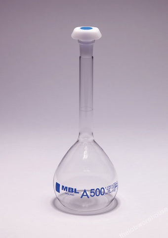 VOLUMETRIC FLASK MBL BORO. GLASS CL.A STOPPER 10/19 5ML