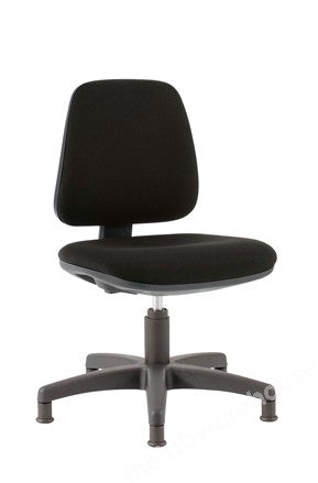 UPHOLSTERED LAB CHAIR ADJ. 420 TO 550MM BLACK/GLIDES