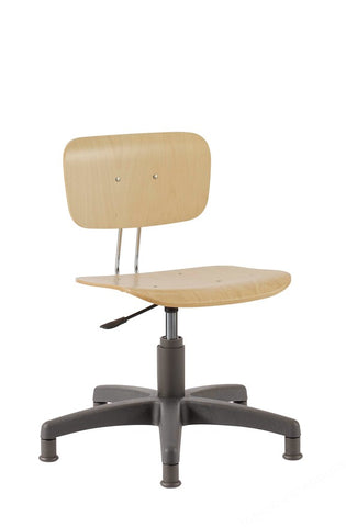 LAB CHAIR LAMINATED BEECH ADJ. 410 TO 540MM WITH GLIDES