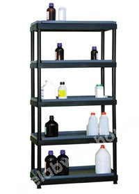ALL-PLASTIC SHELVING HDPE WITH 5 SHELVES AND PVC SHELF TRAYS
