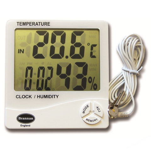 DIGITAL THERMOHYGROMETER CAL. CERT. -50 TO +70ºC/20 TO 99%RH