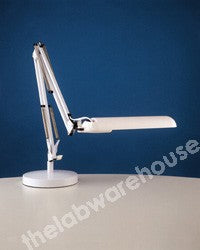 FLUOR. DESK LAMP WITH ADJ. SPRING ARM WHITE 220-240V A.C.