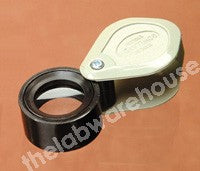 FOLDING MAGNIFIER HAND-HELD DOUBLET 17MM DIA MAGN. X8