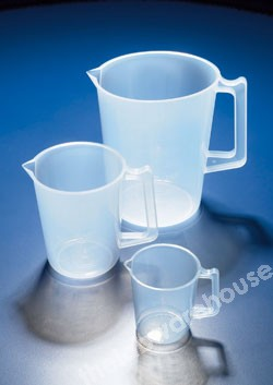 JUG CLEAR RIGID PP MOULDED GRADUATIONS 500ML