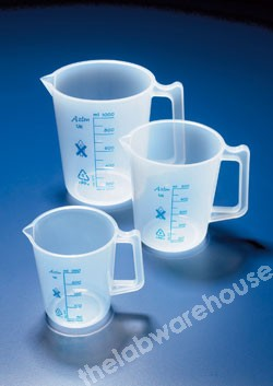 JUG TRANSPARENT PP TALL FORM WITH HANDLE 50ML