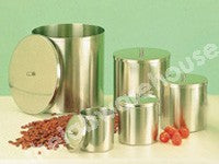 DRESSING CONTAINER & LID, S/STEEL, 2L, 125 X 175MM DIA X DP