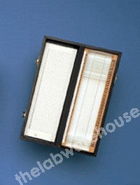 SLIDE BOX PAPER COVERED WOOD AND HINGED LID FOR 50 SLIDES