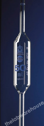 BULB PIPETTE BLAUBRAND 1-MARK SODA-LIME GLASS CLASS AS 100ML
