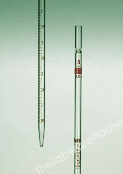 GRADUATED PIPETTE MBL SODA GLASS TYPE 4 CLASS B 1X0.01ML