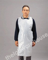 APRONS PLASTIC BIB FRONT 1165MM LONG DISPOSABLE PK.100