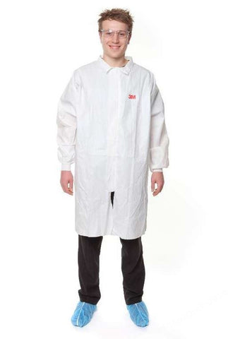 LABORATORY COATS 3M 4440 WHITE LGE 91 TO 97CM CHEST PK.10