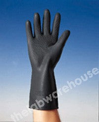 GLOVES MARIGOLD BLACK RUBBER SMALL PK 12 PAIRS