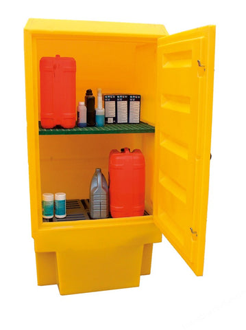 ACID AND ALKALI STORAGE CABINET PSC4 RIGID PE 1835X920X720MM