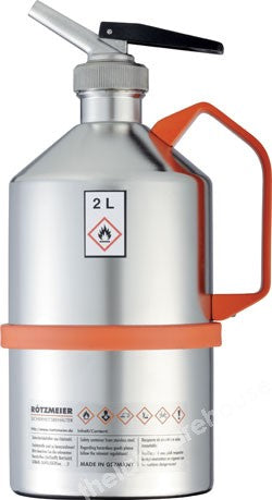 SAFETY CAN STAINLESS STEEL SELF-CLOSING CAP 2L