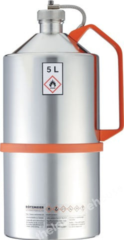 SAFETY CAN STAINLESS STEEL UN-APPROVED SCREW CAP 5L