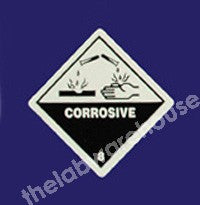 WARNING LABELS CORROSIVE 100X100MM ROLL OF 330