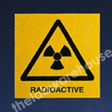 WARNING LABELS RADIOACTIVE 100X100MM ROLL OF 330