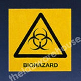 WARNING LABELS BIOHAZARD 100X100MM ROLL OF 330