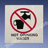 WARNING LABELS NOT DRINKING WATER 50X50MM ROLL OF 330