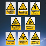 WARNING SIGN DANGER FIRE RISK 400X300MM