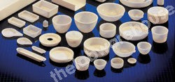 CRUCIBLE LID SILICA WITH RING HANDLE FOR 82MM DIA CRUCIBLES