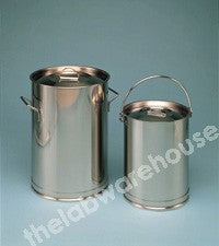 CYLINDRICAL CONTAINER ST./STEEL WITH LOOSE LID & HANDLE 5L