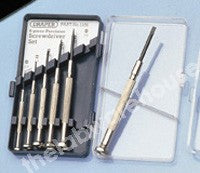 WATCHMAKERS SCREWDRIVERS SET OF 6 STEEL BLADES IN WALLET