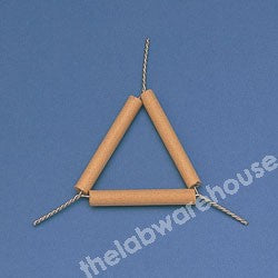 TRIANGLE PIPECLAY TUBES ON IRON WIRE WITH 75MM LONG SIDES