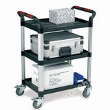 TROLLEY 3 X PP PLATFORMS 630 X 424MM W/ALU. PILLARS