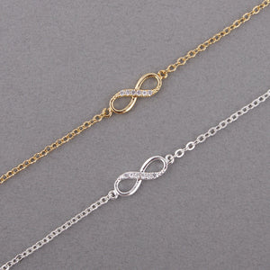 Infinity with Crystal Stones Bracelet