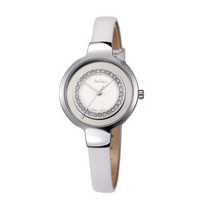 Julius Women's Dress Leather Watch Japan Quartz